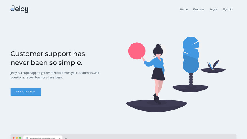 Jelpy Landing Page
