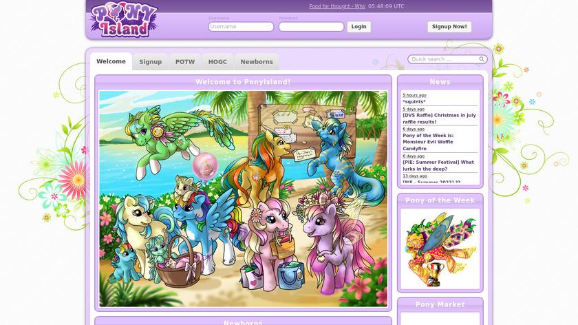 Pony Island Landing Page