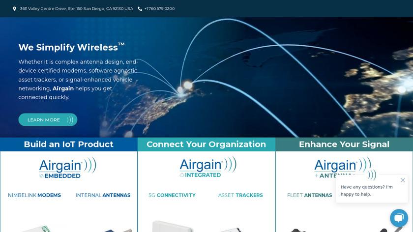 AirGain Landing Page