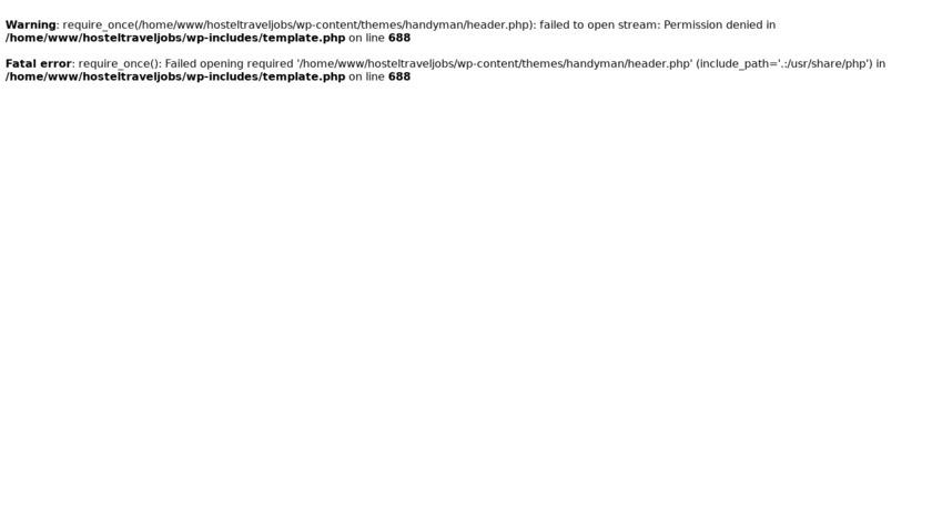hosteltraveljobs Landing Page