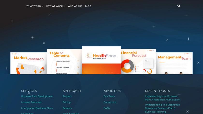 MasterPlans Landing Page