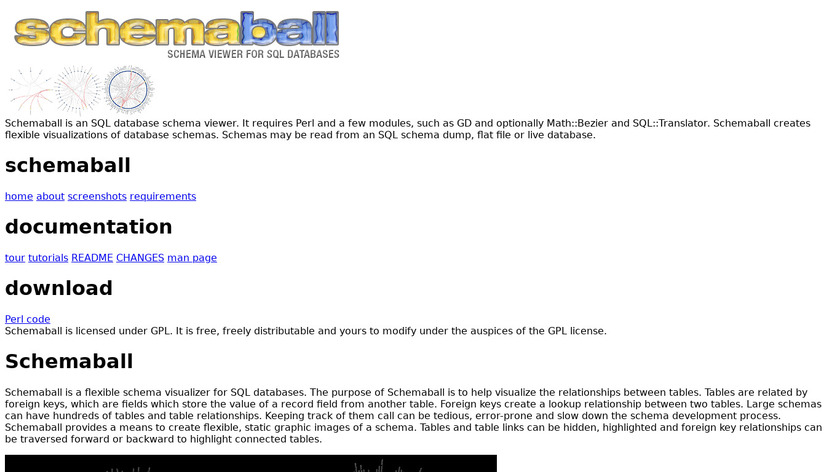 Schemaball Landing Page