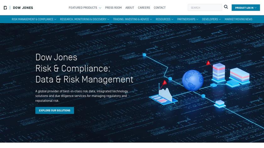Dow Jones Risk & Compliance Landing Page