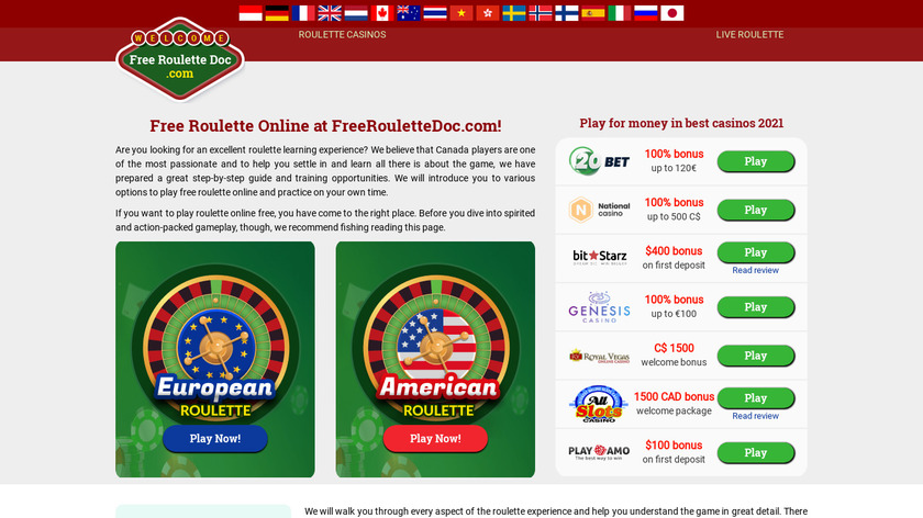Free Chatroulette Landing Page