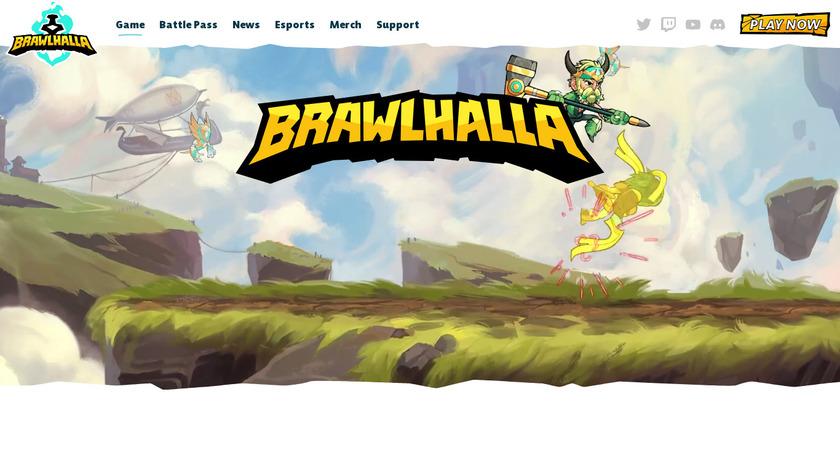 Brawlhalla Landing Page
