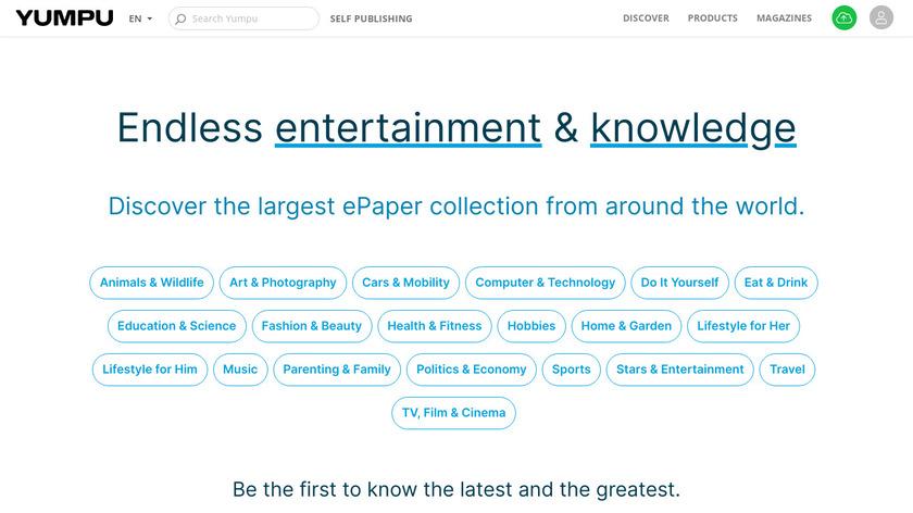 Yumpu.com Landing Page