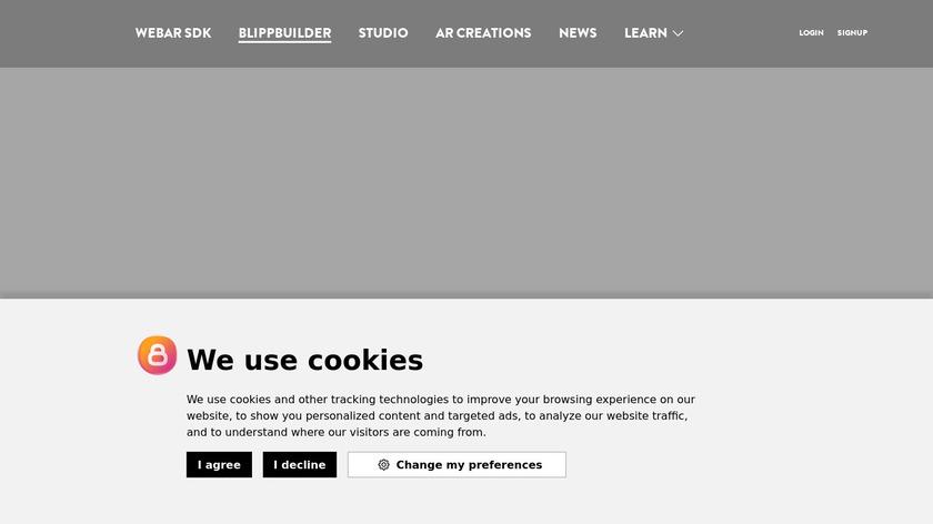 Blippbuilder Landing Page