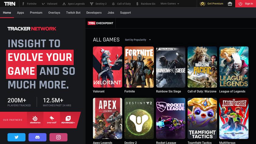 Tracker.GG Landing Page