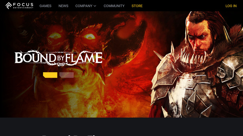 Bound by Flame Landing Page