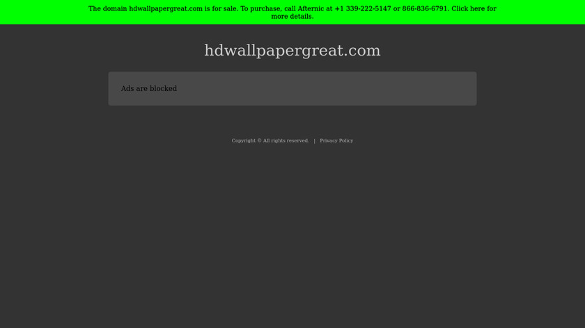 HDWallpaperGreat.com Landing Page