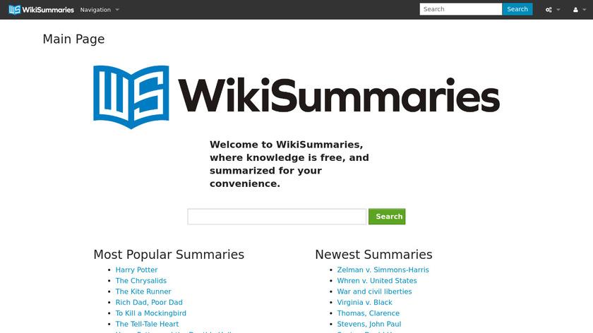 WikiSummaries Landing Page