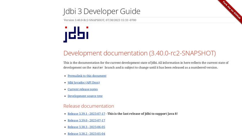 JDBI Landing Page