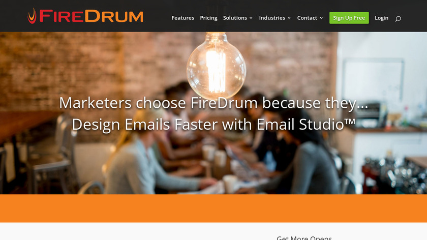 FireDrum Email Marketing Landing Page