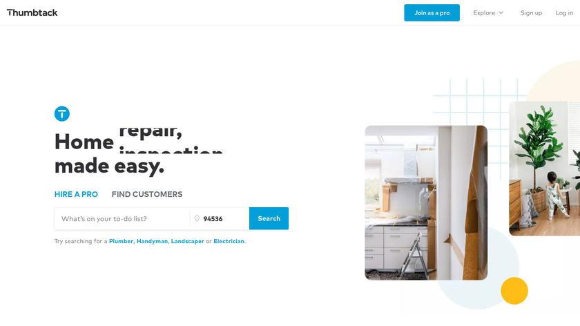 Thumbtack Landing Page