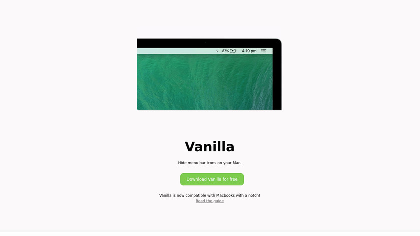 Vanilla Landing Page