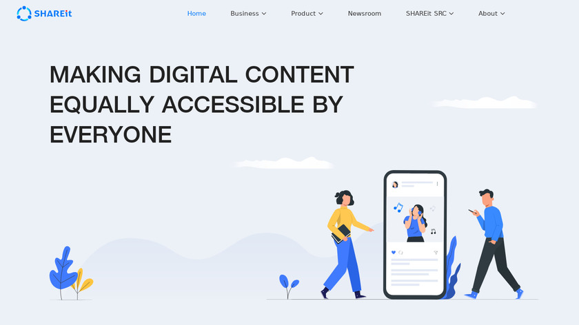SHAREit Landing Page