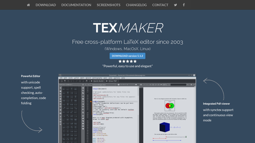 Texmaker Landing Page