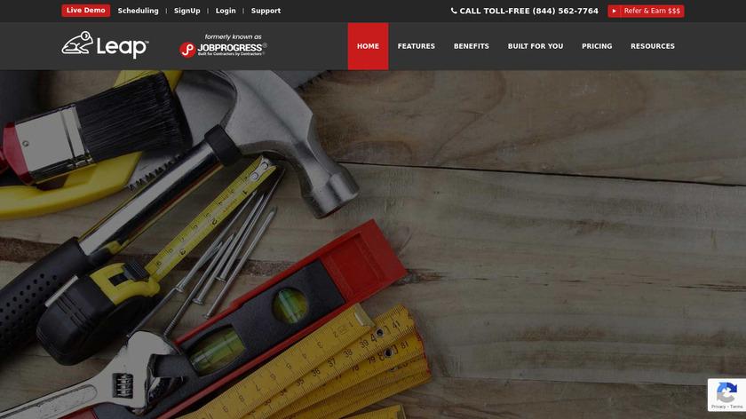 JobProgress Landing Page