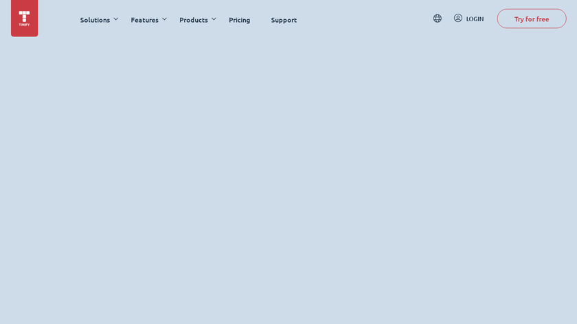 TIMIFY Landing Page