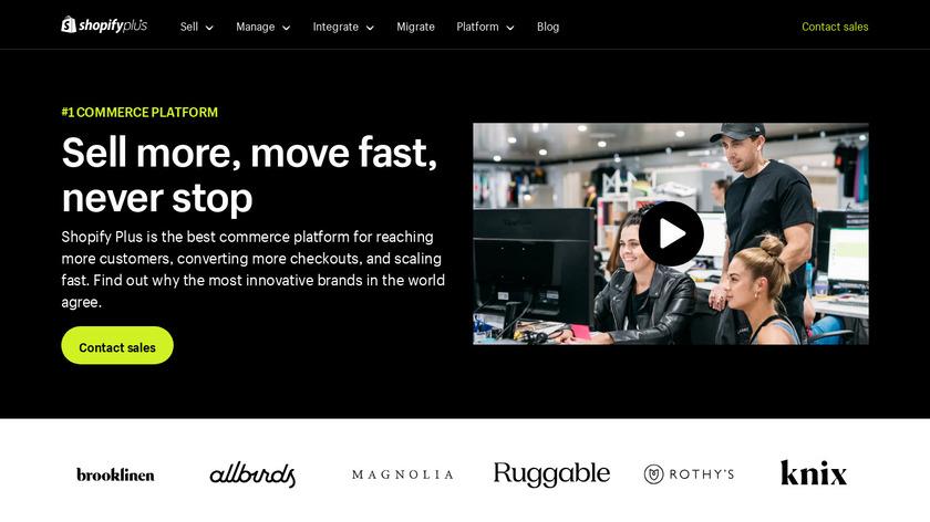 Shopify Plus Landing Page