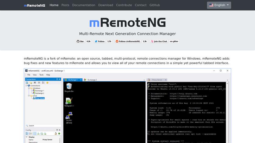 mRemoteNG Landing Page