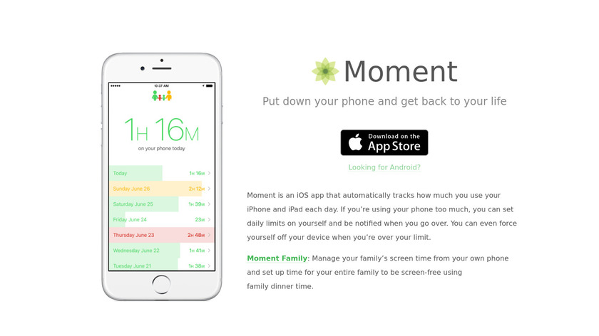 Moment Landing Page