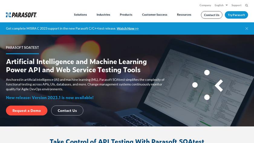 Parasoft SOAtest Landing Page