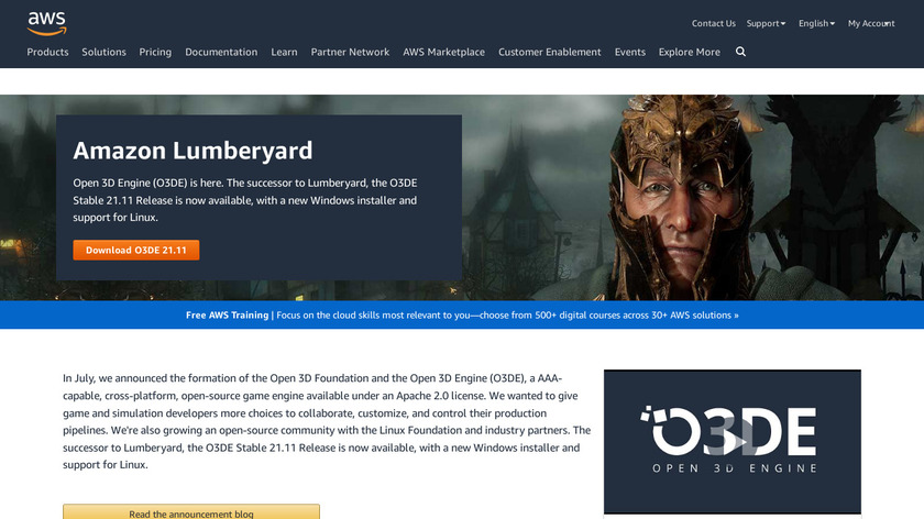 Amazon Lumberyard Landing Page