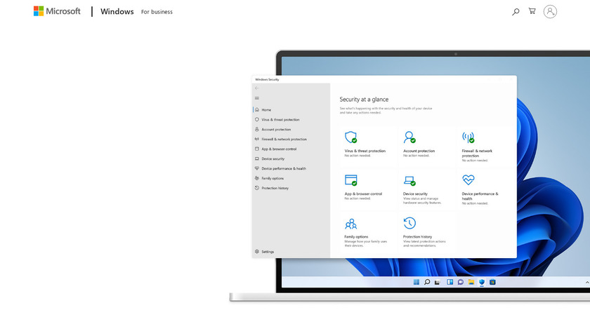 Windows Defender Landing Page