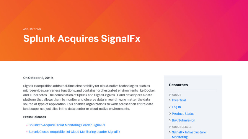 SignalFx Landing Page