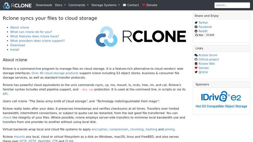 Rclone Landing Page