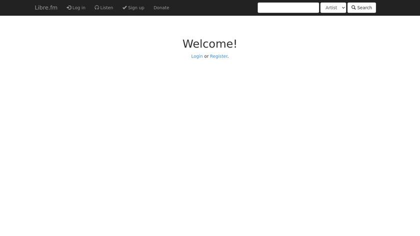 Libre.fm Landing Page