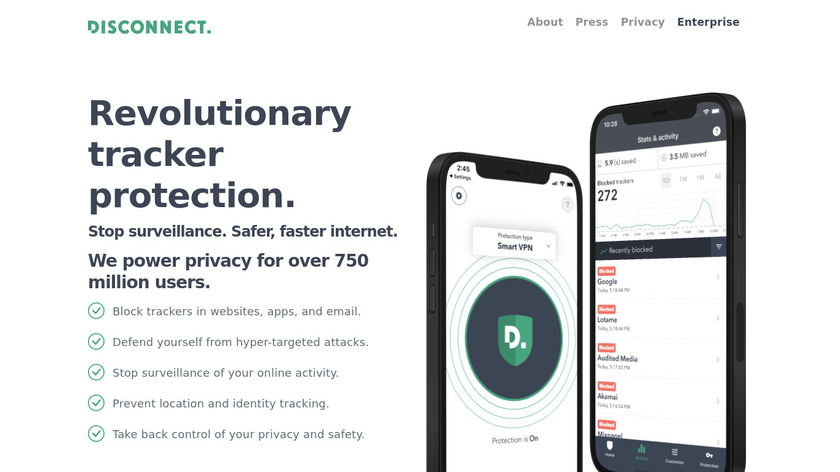 Disconnect Landing Page