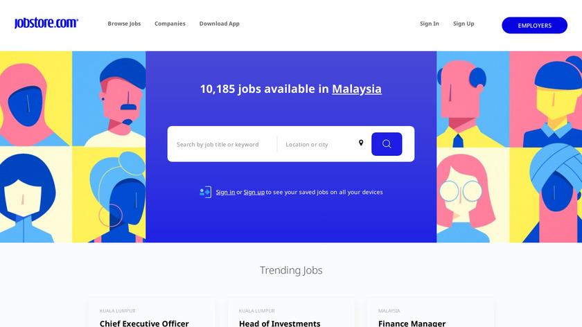 Jobstore Landing Page