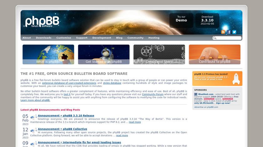 phpBB Landing Page