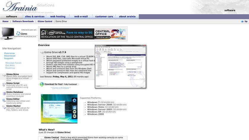 Gizmo Drive Landing Page