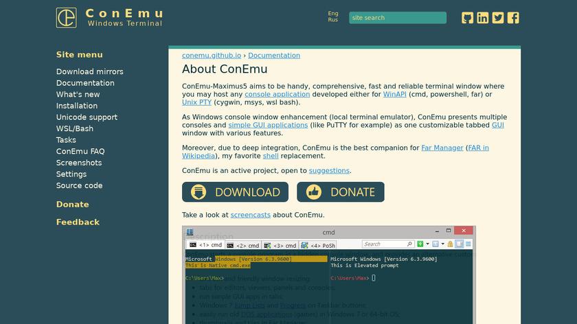 ConEmu Landing Page