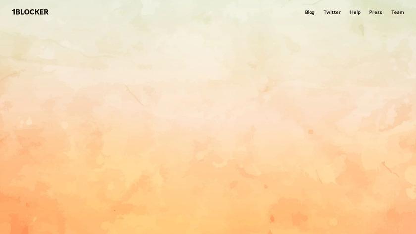1Blocker Landing Page