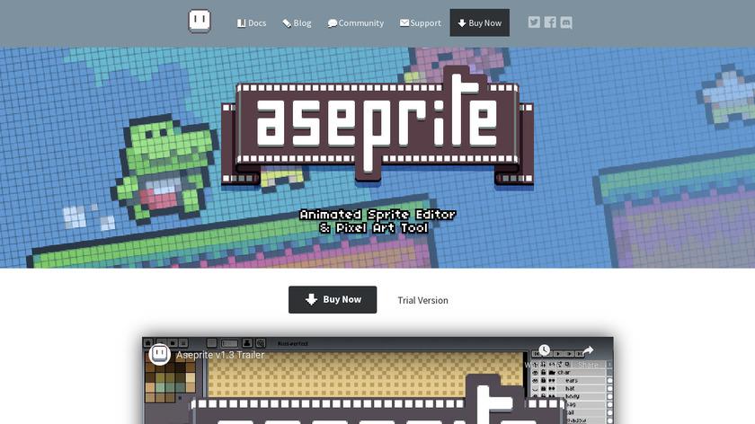 Aseprite Landing Page