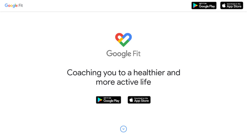 Google Fit Landing Page