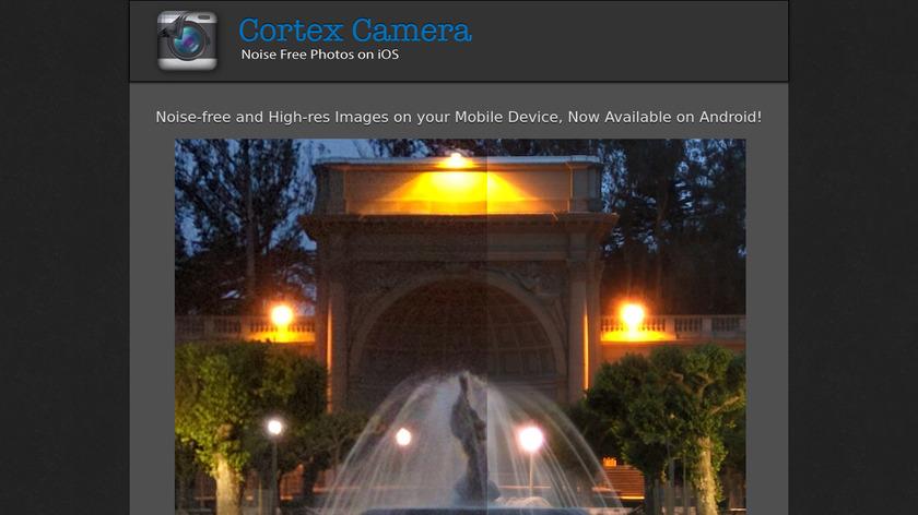 Cortex Cam Landing Page