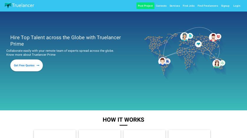 Truelancer.com Landing Page