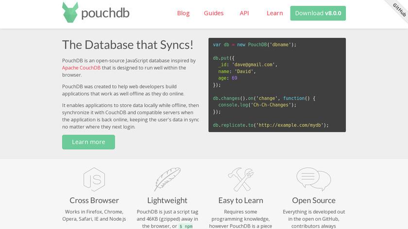 PouchDB Landing Page
