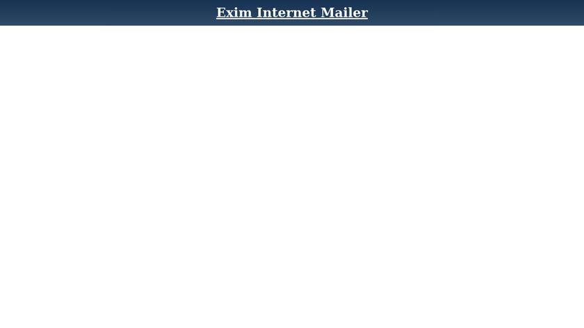 Exim Landing Page