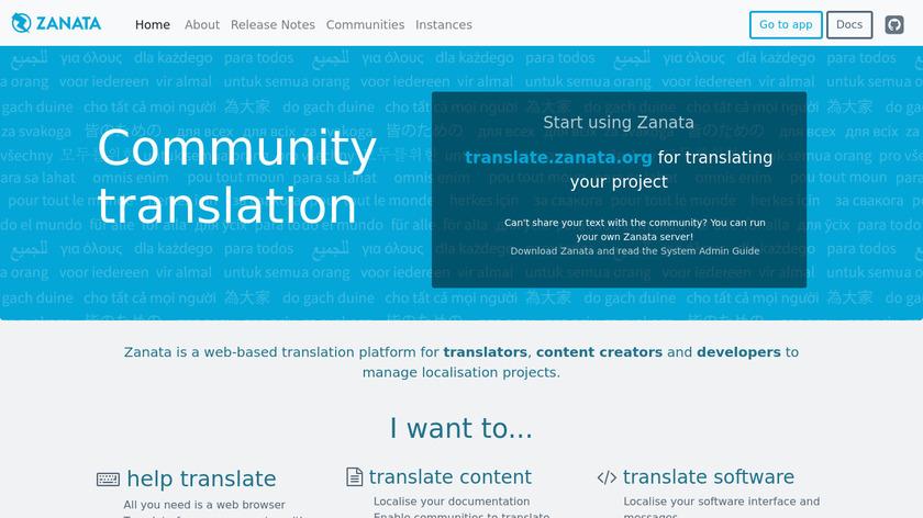 Zanata Landing Page