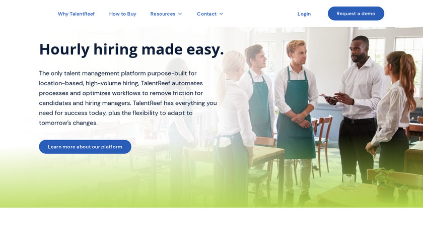 talentReef Landing Page