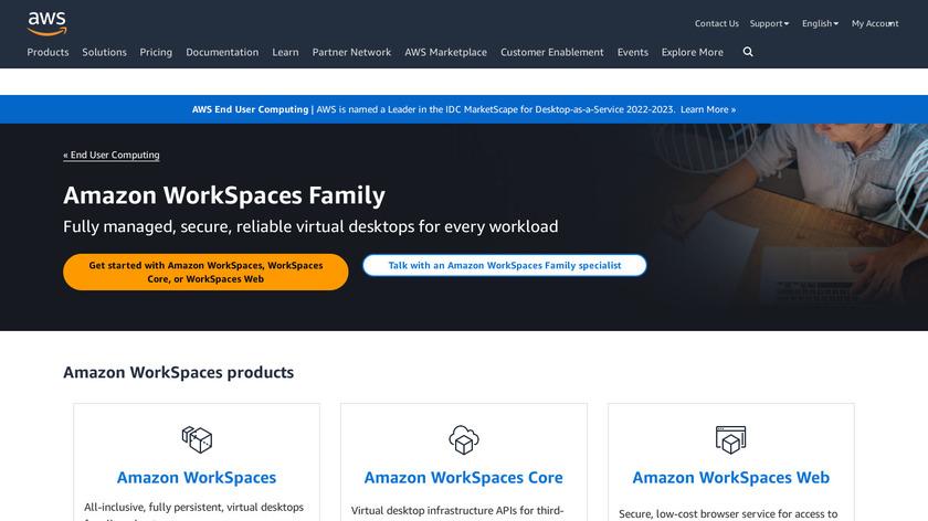 Amazon WorkSpaces Landing Page