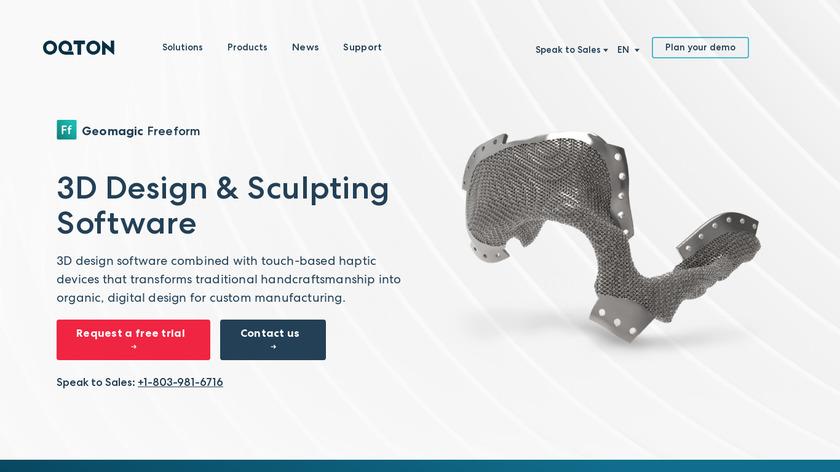 Geomagic Freeform Landing Page