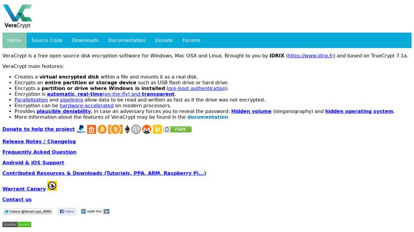 VeraCrypt Landing Page