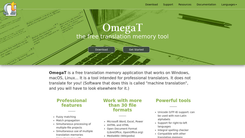 OmegaT Landing Page